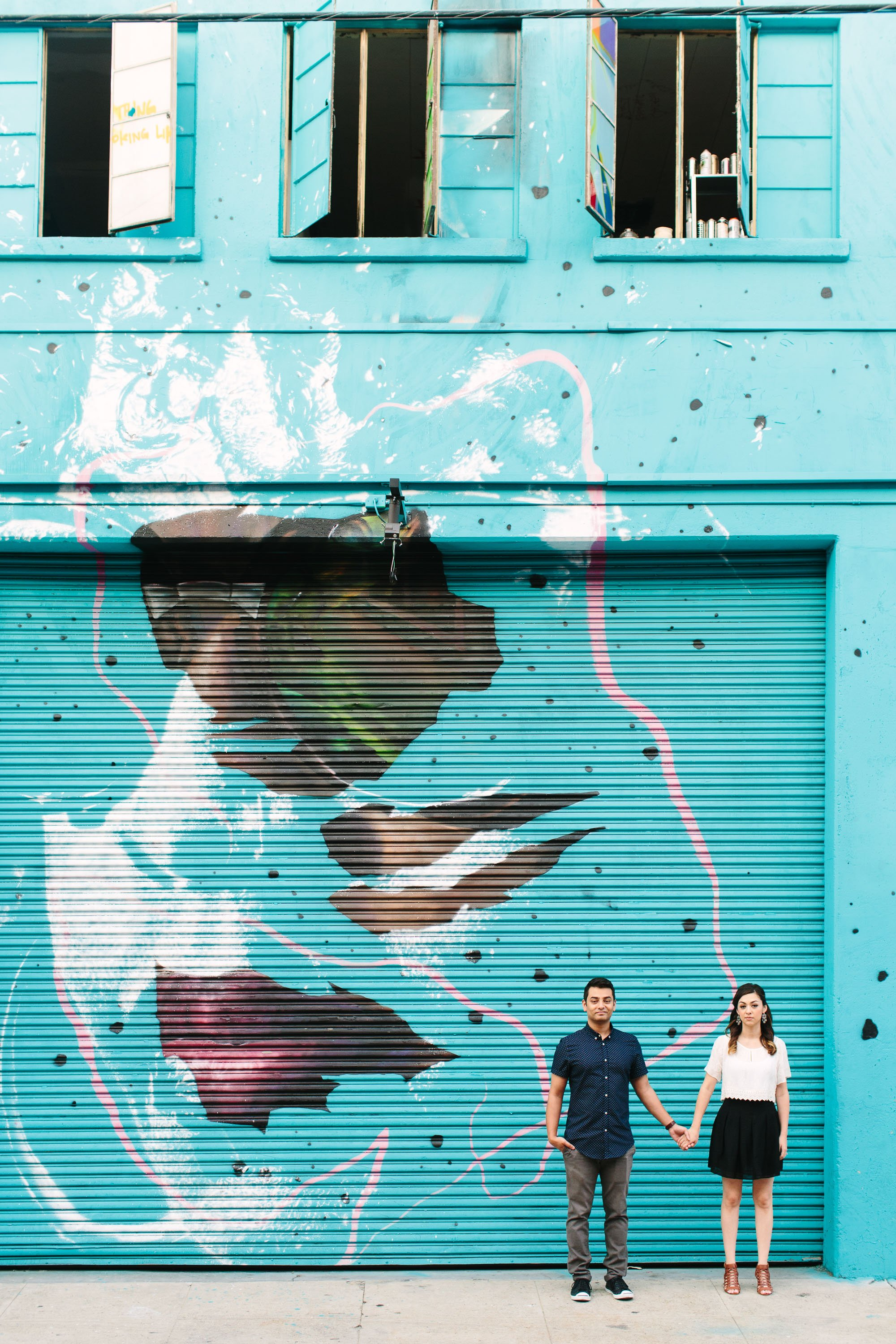 www.marycostaphotography.com | Colorful Mural DTLA Engagement Session | 009